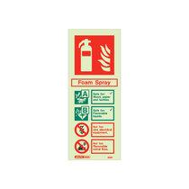 Extinguisher Sign - Foam - 200mm x 80mm