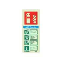 Extinguisher Sign - Powder - 200mm x 80mm - 105mm x 150mm