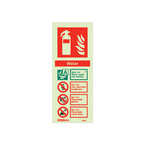 Extinguisher Sign - Water - 200mm x 80mm