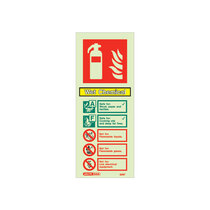 Extinguisher Sign - Wet Chemical - 200mm x 80mm