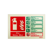 Extinguisher Sign - Dry Water Mist - 105mm x 150mm