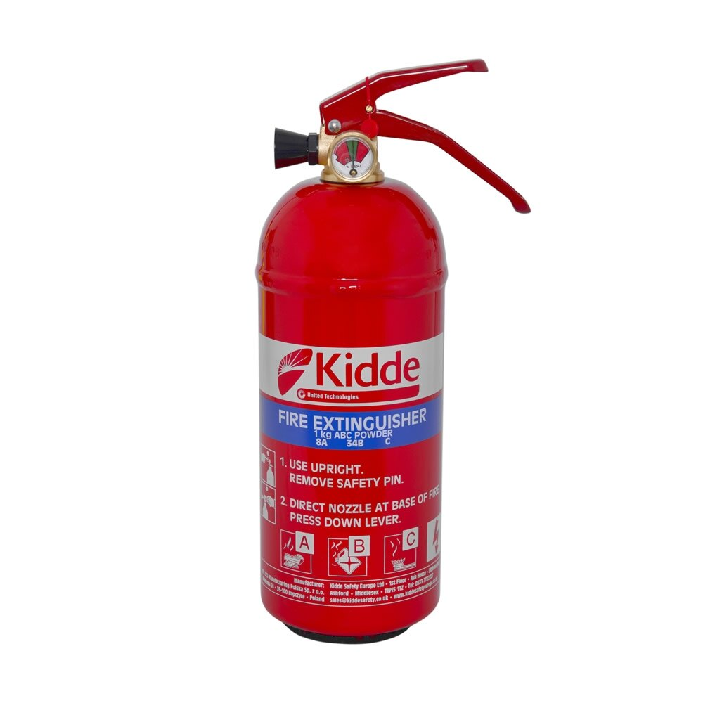 1kg Multi-Purpose Powder Fire Extinguisher - Kidde KS1KG
