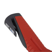Non-slip handle with integrated seat belt cutter