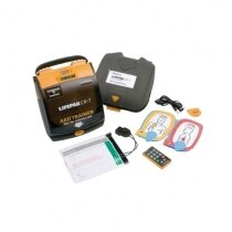 The Lifepak CR-T trainer is supplied with a number of training accessories