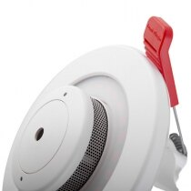 Combined emergency lighting and smoke alarm