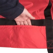 Fastening straps can be stored in built-in pockets