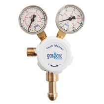 Solid brass regulator with clear gauges