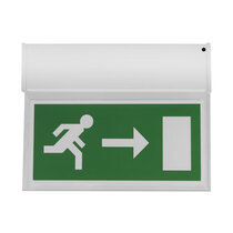 Single Sided Hanging LED Fire Exit Sign - Self Test - Right Arrow