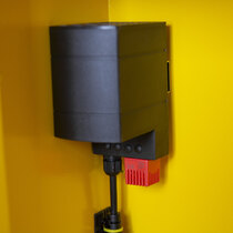 Thermostatically controlled heater maintains the internal temperature