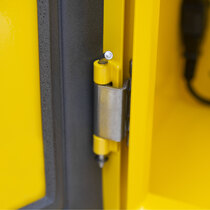 Sleek design with concealed hinges for increased security