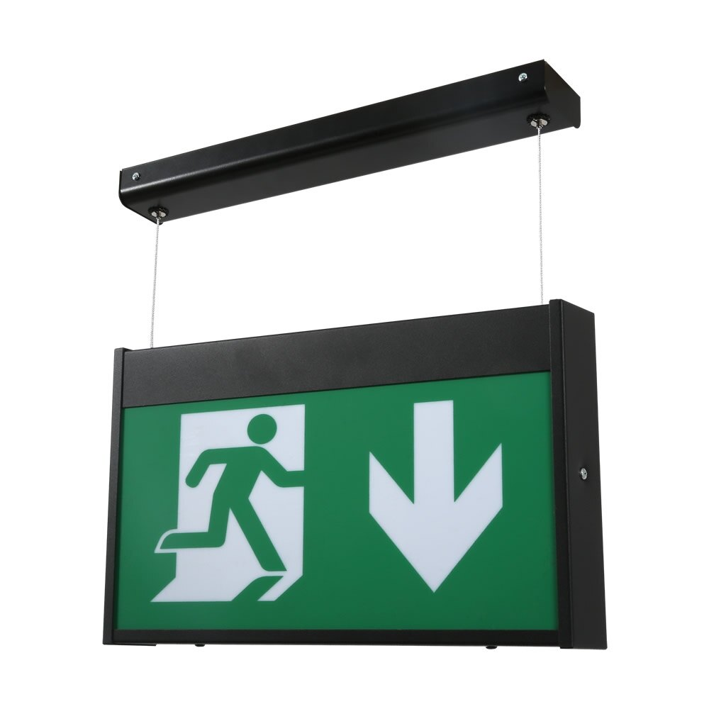 Hanging LED Emergency Fire Exit Sign - Paloma