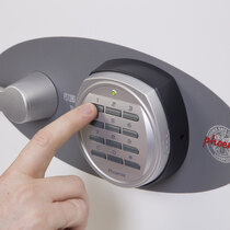 The electronic lock version is secure and easy to use