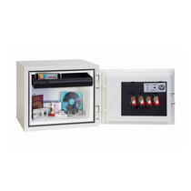 60 minute fire protection for paper and digital media (DVDs, CDs, USB drives and sticks) at 945°C