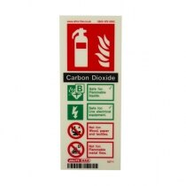 Photoluminescent CO2 Fire Extinguisher Signs