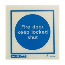 """Fire Door Keep Locked Shut"""