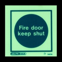 """Fire Door Keep Shut"" in darkness"