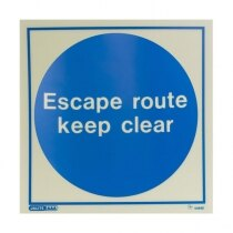 """Escape route keep clear"""