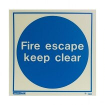"""Fire escape keep clear"""