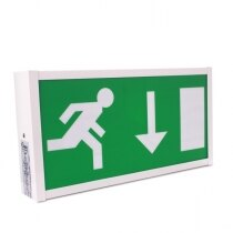 Wall-Mounted 8W Fire Exit Sign Slave Unit - Pico PIC8