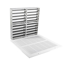 Fire Rated Air Transfer Grille & Face Plate for 1300 (White)