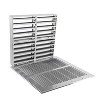 Fire Rated Air Transfer Grille & Face Plate for 1300 (Silver)