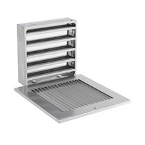 Fire Rated Air Transfer Grille & Face Plate for 1500 (Silver)