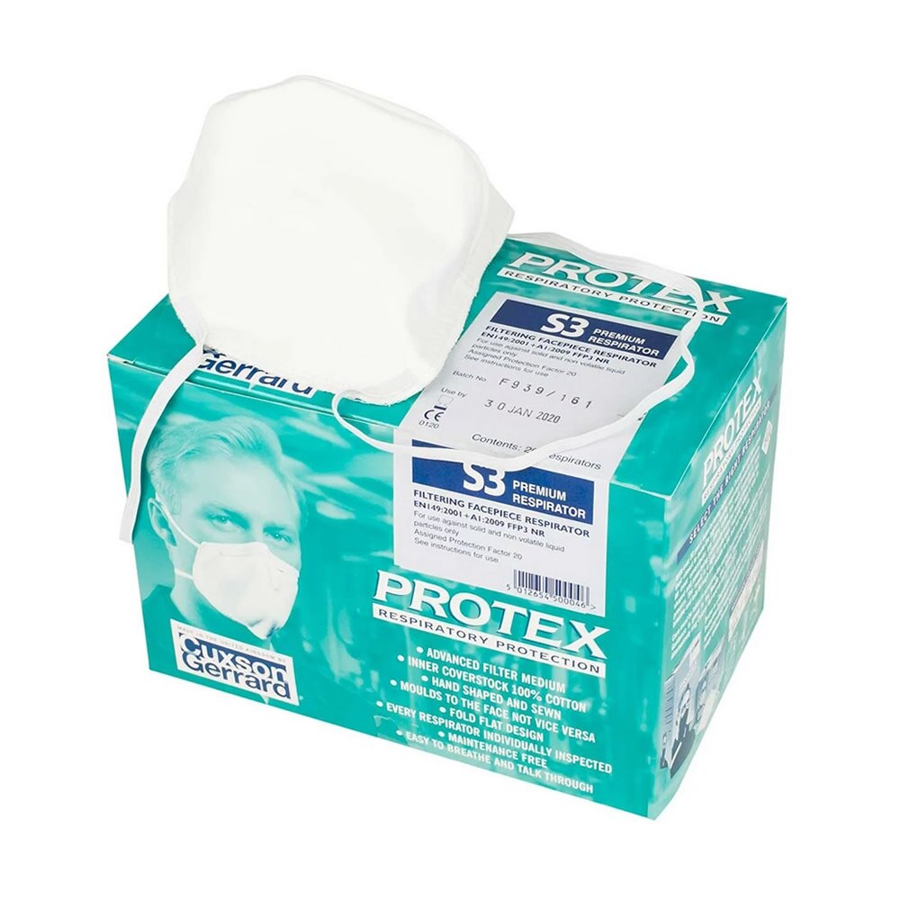 Protex S3 - Protects against at least 98% of fine particle dusts, fumes and pollens