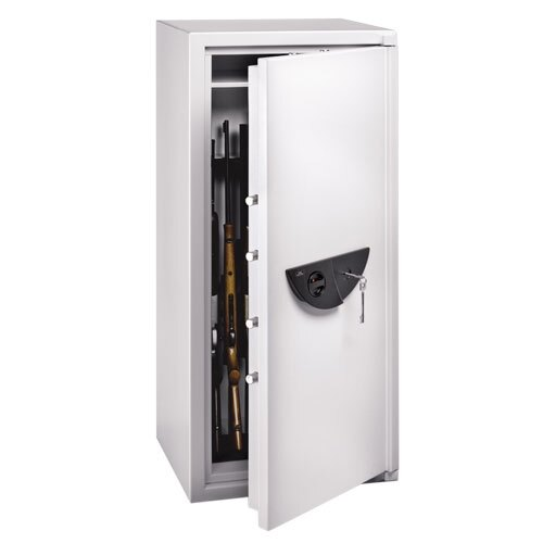 Ranger Grade I eight gun security cabinet fitted with high security key lock
