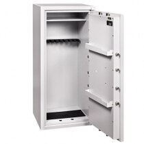 Ranger Grade I eight gun security cabinet with storage shelf and door racks