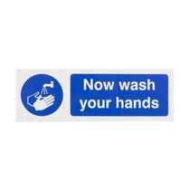 Now wash your hands - Landscape Sign- 300 x 100mm