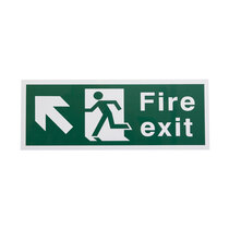 Fire Exit Sign - Up Left