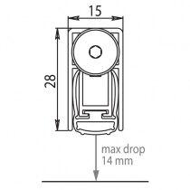 Maximum 14mm drop