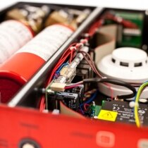 The Redetec is a self contained fire suppression and detection unit