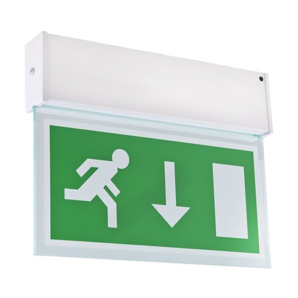 Single-Sided Hanging LED Emergency Fire Exit Sign - Romney