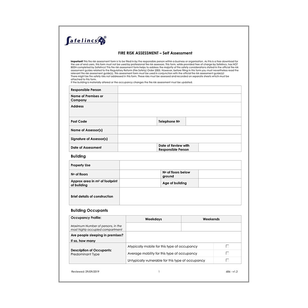 Fire Risk Assessment Form Download Now Use this document when performing due diligence and investigating potential business partners, suppliers, and major clients. fire risk assessment form download now