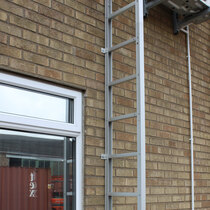 An unfolded Saffold fire escape ladder