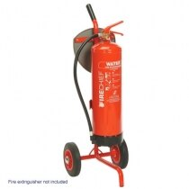 Single fire extinguisher trolley with rotary hand bell