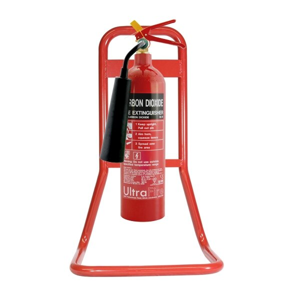Single Red Metal Extinguisher Stands