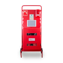 Site Stand with Waterproof Extinguisher Cabinet and Call Point Site Alarm