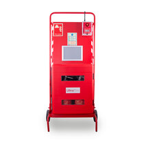 Site Stand with Waterproof Extinguisher Cabinet and Interconnectable Site Alarm