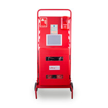 Site Stand with Waterproof Extinguisher Cabinet and Push Button Site Alarm