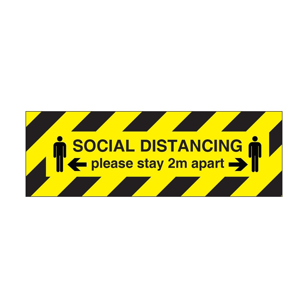 Social Distancing Stay 2m Apart Signs