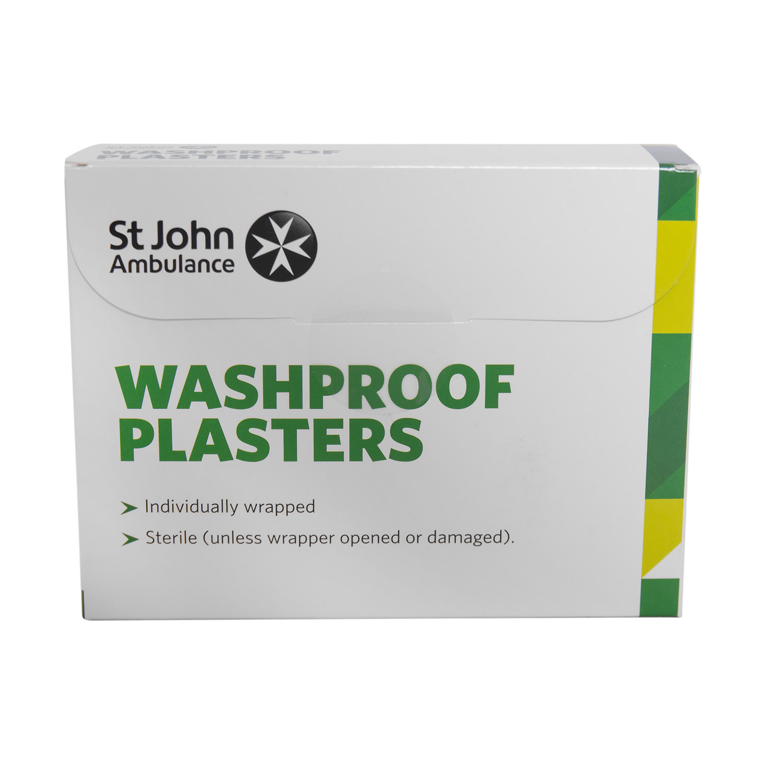 St John Ambulance Washproof Low Allergy Plasters Assorted - 100pk