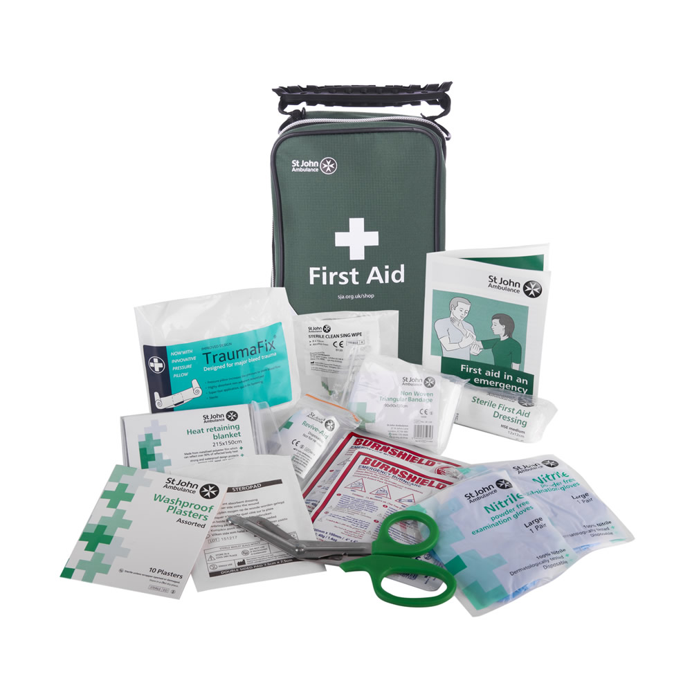 St John Ambulance BS 8599-1 Compliant Travel First Aid Kit in Pouch