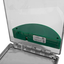Flush Mounted Call Point Cover - without Sounder - Green