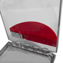 Flush Mounted Call Point Cover - with out Sounder Red