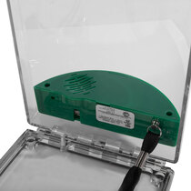 Flush Mounted Call Point Cover - with Sounder - Green