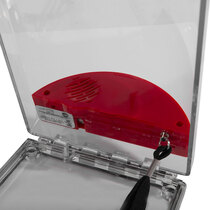 Flush Mounted Call Point Cover - with Sounder - Red