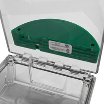 Surface Mounted Call Point Cover - with out Sounder - Green