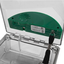 Surface Mounted Call Point Cover - with Sounder - Green